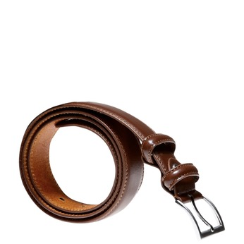 Men's Leather Belt bata, brown , 954-3121 - 13