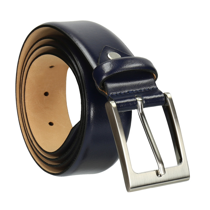 Men's belt, blue , 954-9819 - 13