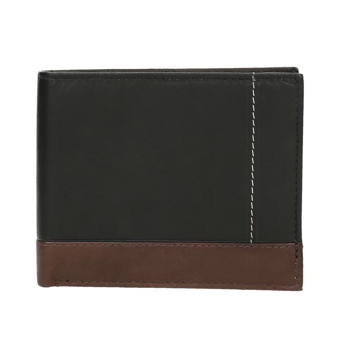 Men's leather wallet bata, black , 944-6149 - 26