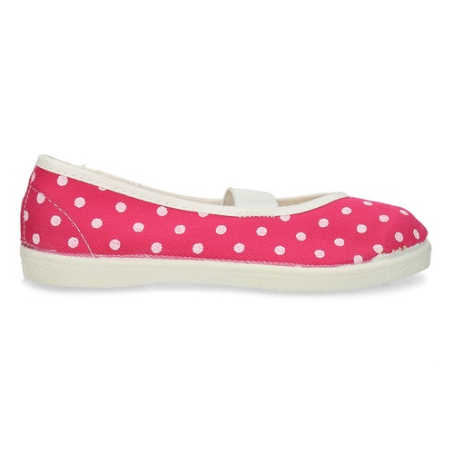 Kids' gym shoes with dots, pink , 279-5102 - 19