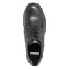 Leather low shoes with toe quilting bata, black , 826-6640 - 19