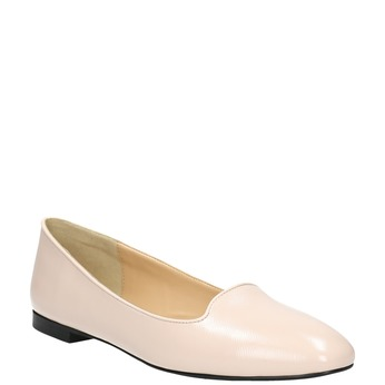 Ladies' leather ballerinas bata, pink , 528-5630 - 13