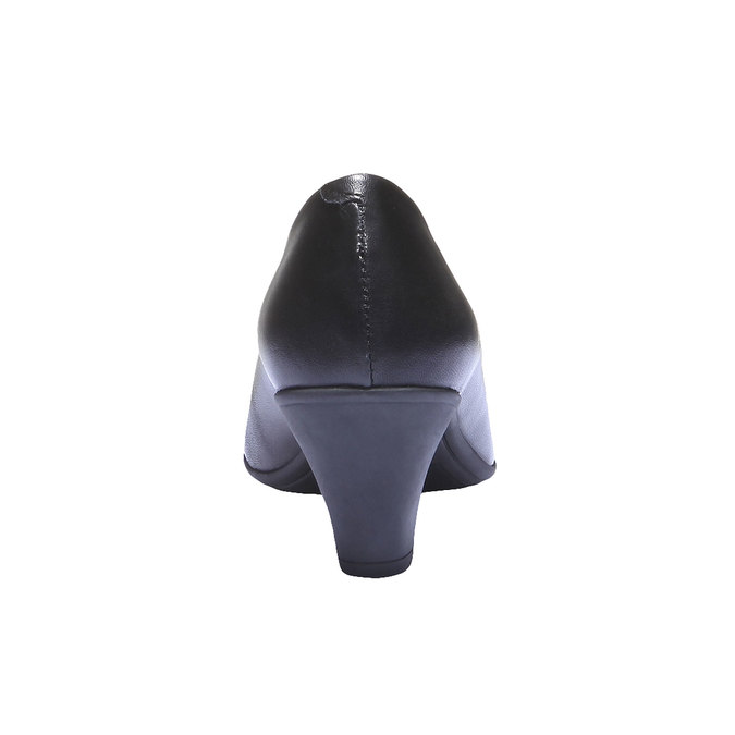 Leather Pumps flexible, black , 624-6221 - 17