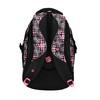 Girls´ school backpack with printed pattern bagmaster, black , 969-5615 - 26