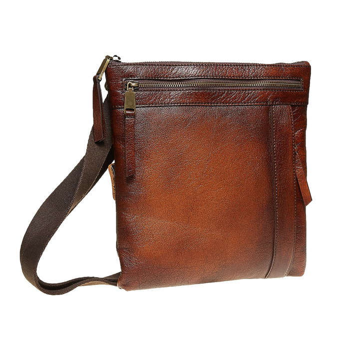 Men´s leather Crossbody bag, brown , 964-4138 - 13