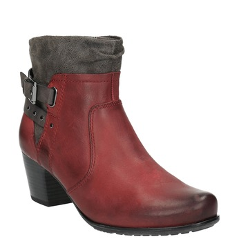 Ladies´ ankle-cut shoes with warm padding bata, red , 696-5617 - 13