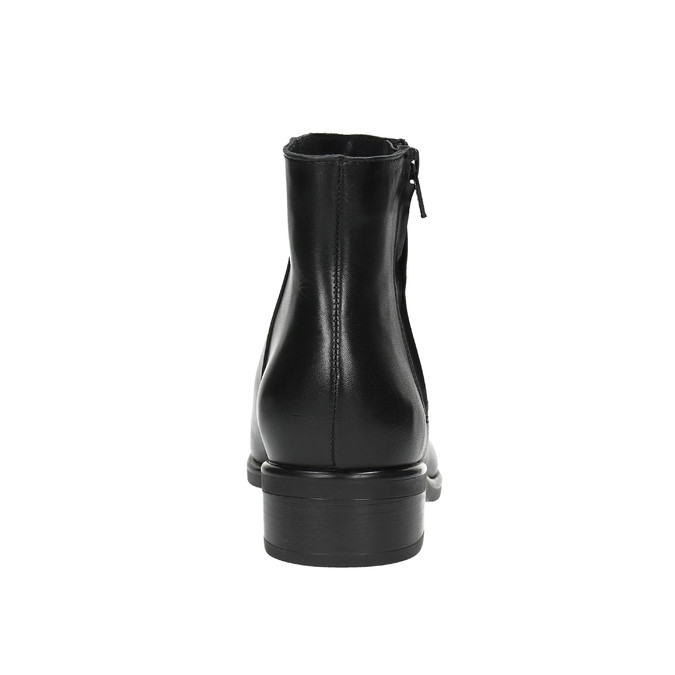 Black leather ankle boots with zip bata, black , 594-6518 - 17
