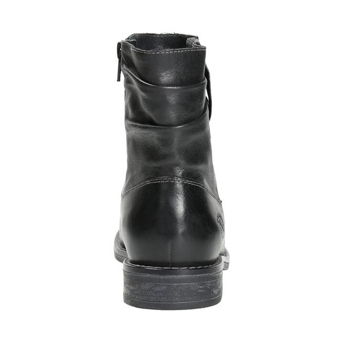 Ladies' leather ankle boots bata, black , 594-6611 - 17