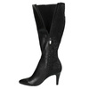 Leather Cossacks on a stiletto heel insolia, black , 794-6628 - 19