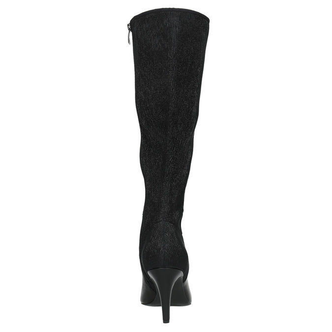 Leather Cossacks on a stiletto heel insolia, black , 794-6628 - 17