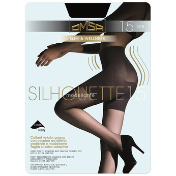 Ladies' body-shaping tights omsa, black , 919-6391 - 13