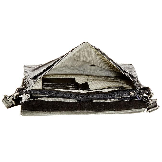 Leather briefcase bata, black , 964-6138 - 15