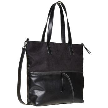Shopper-style handbag bata, black , 961-6847 - 13