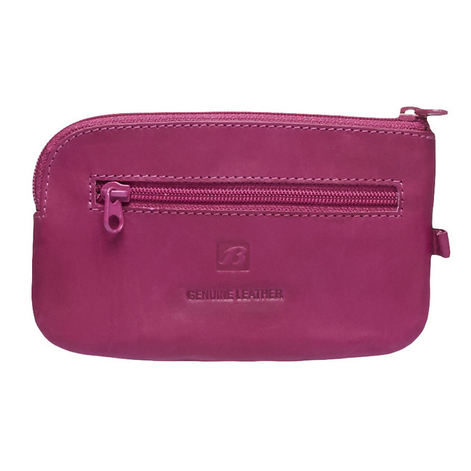 Leather purse bata, pink , 944-5161 - 26