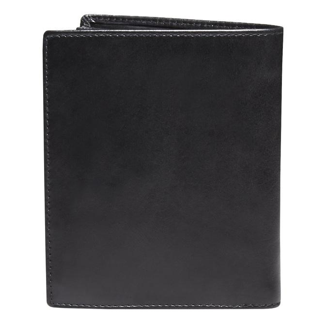 Men's leather wallet bata, black , 944-6121 - 26
