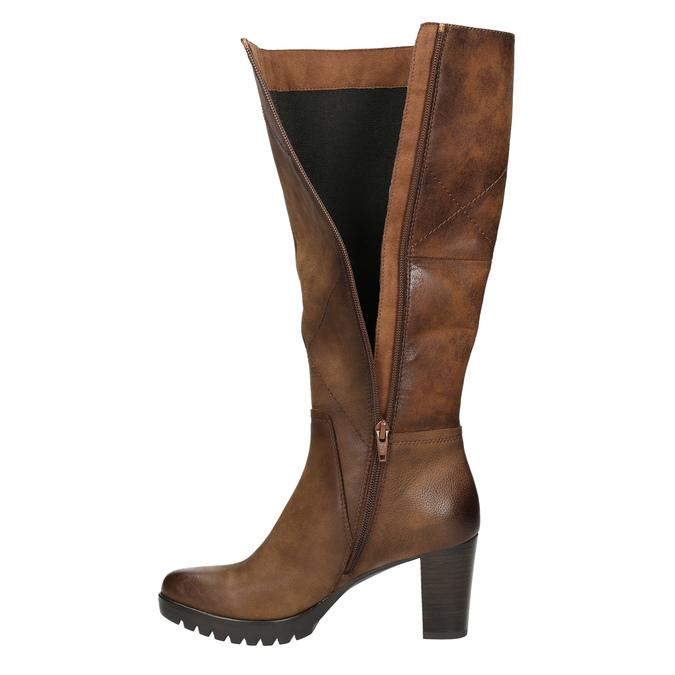Women's high boots bata, brown , 796-4601 - 26