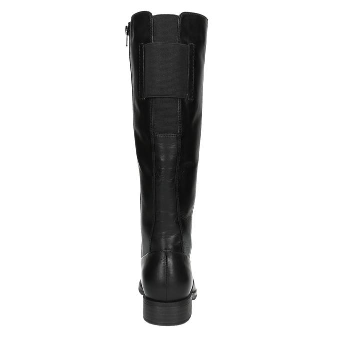 H-width black leather Cossacks bata, black , 596-6611 - 17