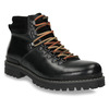 Leather Ankle Boots with Colorful Shoelaces bata, black , 894-6180 - 13