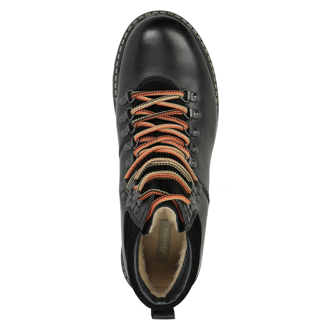 Leather Ankle Boots with Colorful Shoelaces, black , 894-6180 - 19