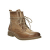 Leather insulated ankle boots bata, brown , 594-4610 - 13