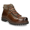 Leather Ankle Boots with Colorful Shoelaces, brown , 894-4180 - 13