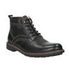 Leather winter shoes bata, black , 894-6642 - 13