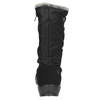 Ladies' black snow boots with fur weinbrenner, black , 599-6612 - 17