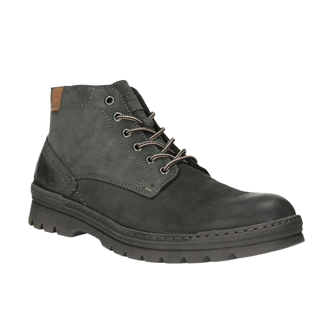 Men's leather ankle-cut shoes weinbrenner, gray , 896-2107 - 13