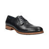 Men's thick-soled leather shoes bata, blue , 826-9809 - 13