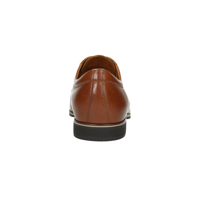 Brown leather shoes conhpol, brown , 824-3858 - 17