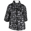 Ladies' quilted jacket with floral pattern bata, black , 979-6316 - 13