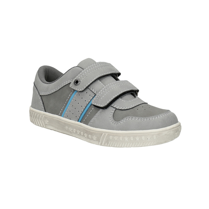 Children's sneakers with Velcro fasteners mini-b, gray , 411-2604 - 13