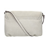 Crossbody handbag with perforated flap bata, beige , 961-2709 - 19