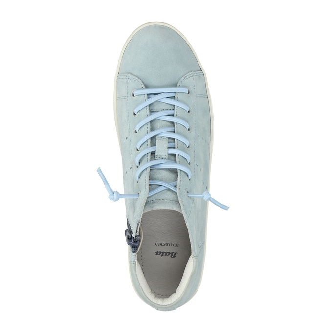 Ladies´ leather ankle-cut sneakers bata, blue , 523-9602 - 19