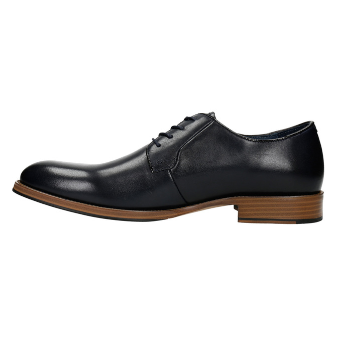 Leather shoes with a casual sole bata, blue , 826-9820 - 26