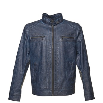 Men's artificial leather jacket bata, blue , 971-9194 - 13