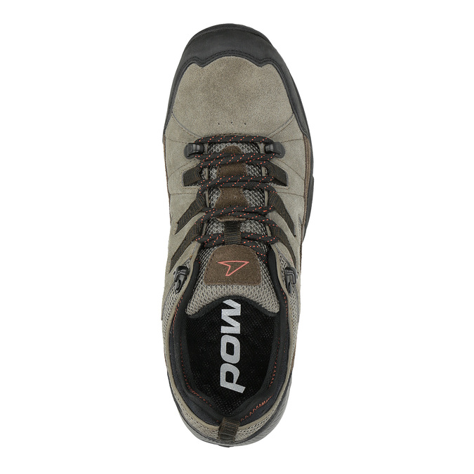 Leather outdoor shoes power, brown , 803-4118 - 19
