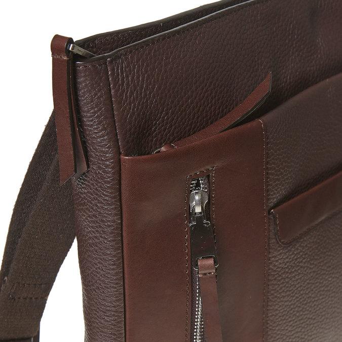 Men's leather crossbody bag bata, brown , 964-4230 - 17