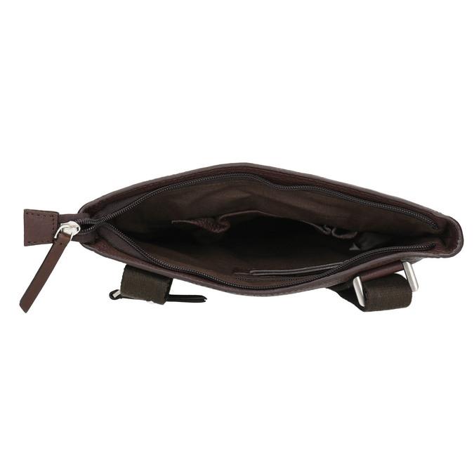 Men's leather crossbody bag bata, brown , 964-4230 - 15