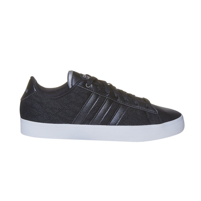 Ladies' black sneakers with lace adidas, black , 509-6195 - 15