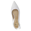 White leather pumps with open heel insolia, white , 724-1634 - 19