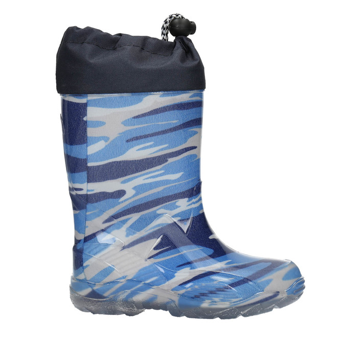 Children's patterned wellington boots mini-b, blue , 192-9110 - 15