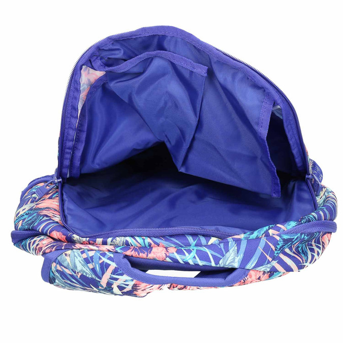 Backpack with coloured pattern roxy, violet , 969-9071 - 15