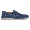Brushed leather Slip-ons weinbrenner, blue , 833-9601 - 19