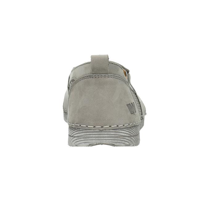Ladies' leather slip-ons weinbrenner, gray , 513-2263 - 17