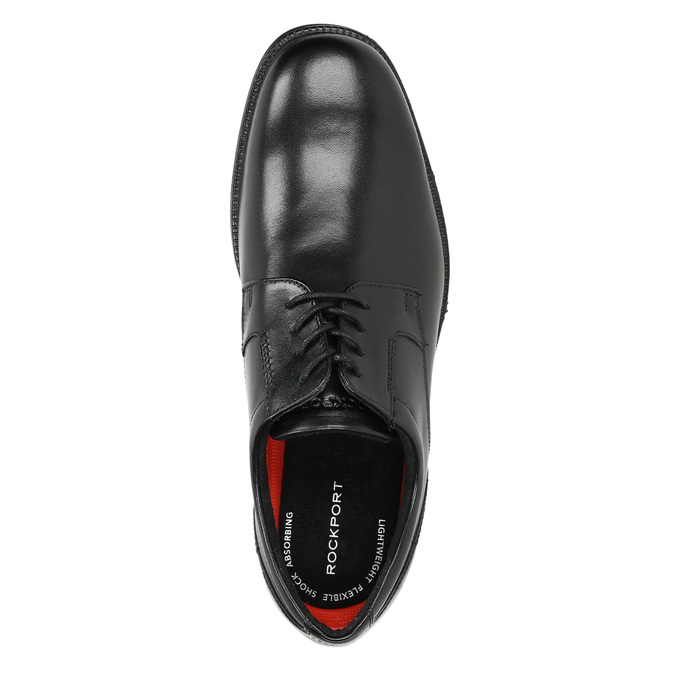 Black leather shoes rockport, black , 824-6127 - 19