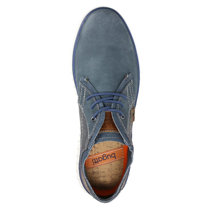 Leather ankle boots bugatti, blue , 846-9635 - 19