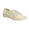 Leather shoes with perforations weinbrenner, yellow , 546-8605 - 13