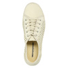 Leather shoes with perforations weinbrenner, yellow , 546-8605 - 26
