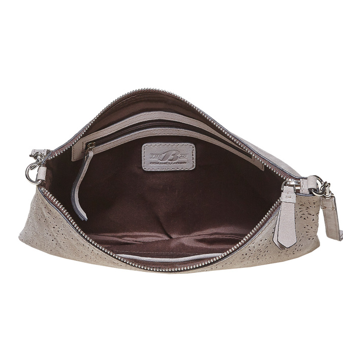 Leather crossbody handbag bata, gray , 963-2135 - 15